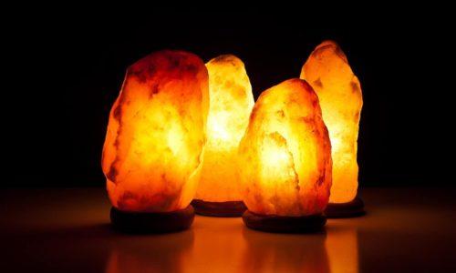 lampada di sale senza base