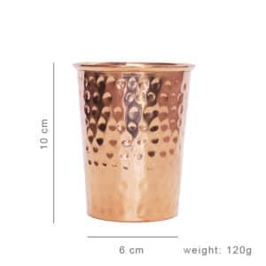 Bicchiere in Rame Martellato