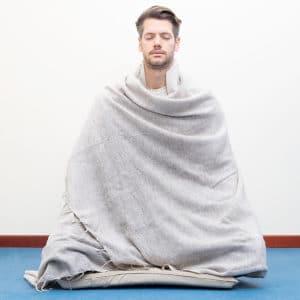 Coperta per Meditazione Beige XL