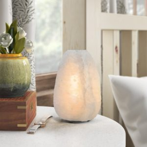 lampada di sale bianca