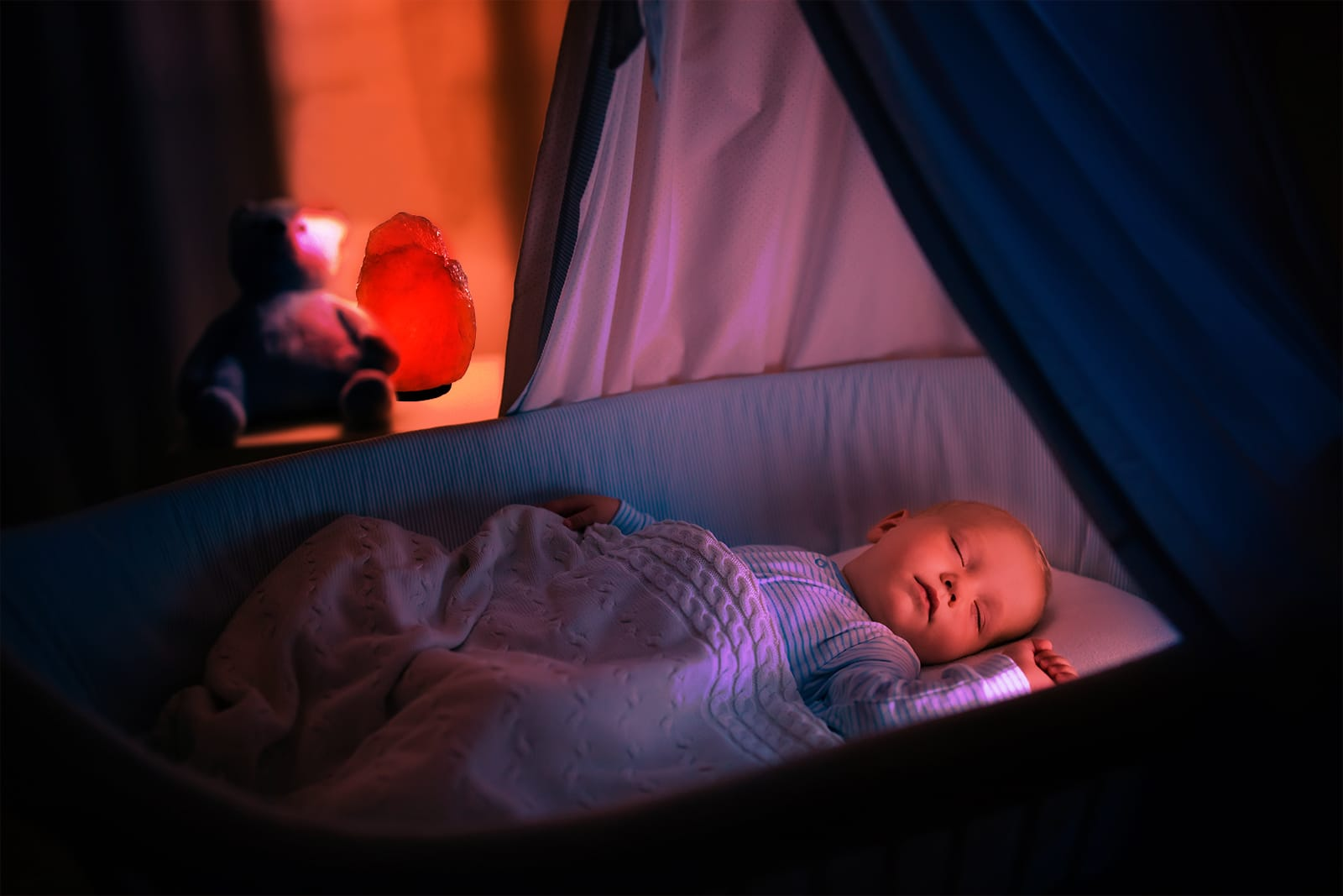 luce rossa sonno bambino